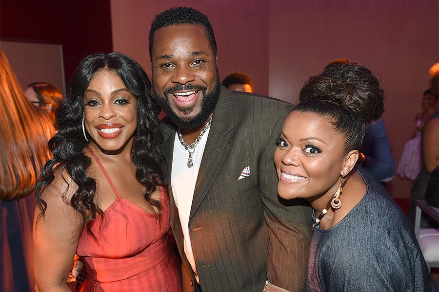 Niecy Nash, Malcolm-Jamal Warner, and Yvette Nicole Brown at the Television Academy's Dynamic and Diverse event, August 25, 2016 at the Saban Media Center, North Hollywood, Californis.