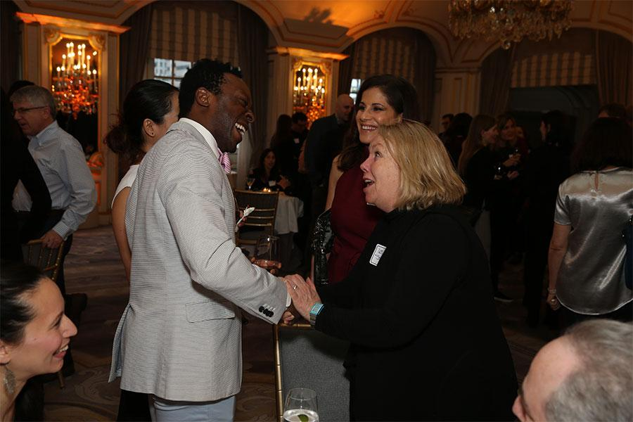 Nnamdi Nwosa, Stephanie Hul, Vivienne Jurado, and Leslie Shrieve at Television Academy's Networking Night Out at the St. Regis on Friday, April 6, 2018 in New York.
