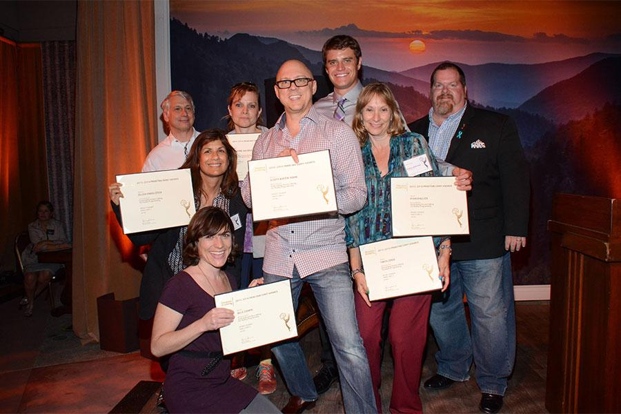 Stuart Bass, Eileen Finkelstein, Julie Cohen, Scott Austin Hahn, Yaffa Lerea, Ryan Mallick, and Scott Boyd at the Picture Editors Nominee Reception in North Hollywood, California.