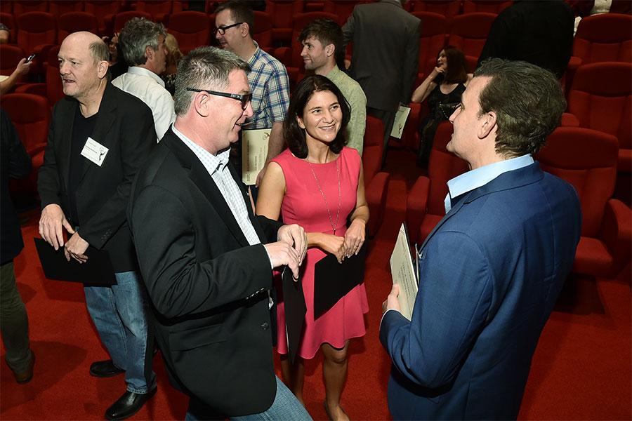 Nominees chat at the Sound Editing and Sound Mixing nominee reception, September 8, 2016 at the Saban Media Center in North Hollywood, California.