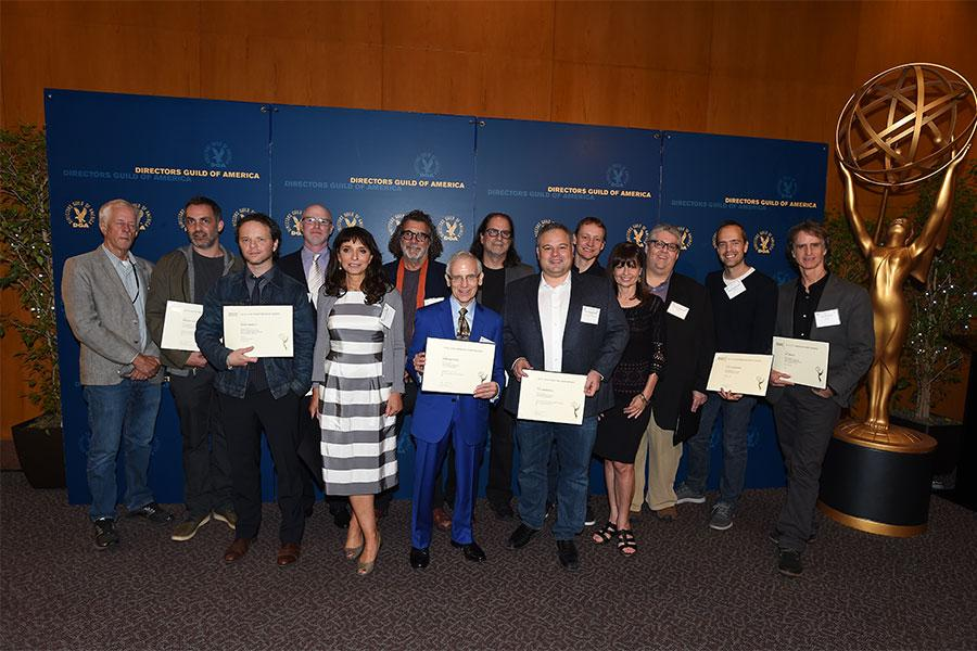 2016 Directing nominees with their certificates at the directors nominee reception, September 13, 2016, at the Directors Guild of America headquarters in Los Angeles, California.