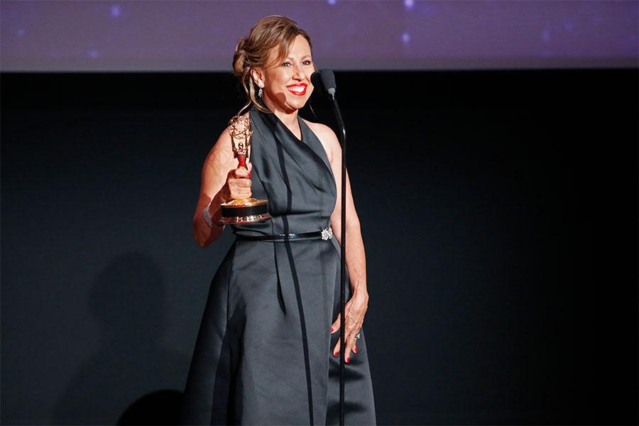 Norma Roque at the L.A. Area Emmy Awards presented at the Television Academy's Wolf Theatre at the Saban Media Center on Saturday, July 22, 2017, in North Hollywood, California.