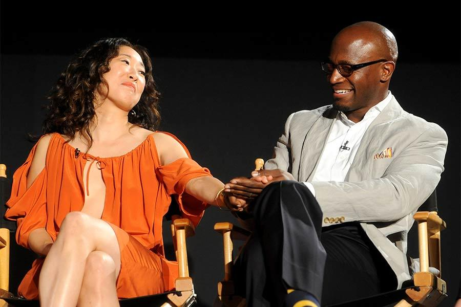 Sandra Oh and Taye Diggs at An Evening with Shonda Rhimes and Friends.