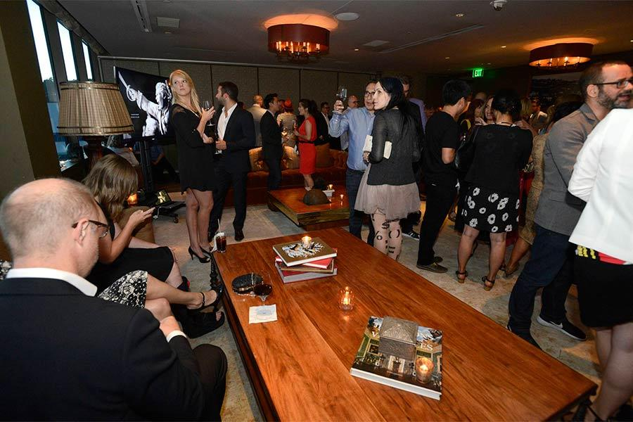 Nominees and guests mingle at the Motion and Title Design Nominee Reception in West Hollywood, California.