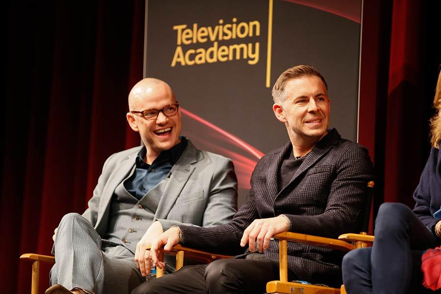 Executive producers, co-creators and showrunners Peter Paige and Bradley Bredeweg at An Evening with The Fosters in Los Angeles, California.