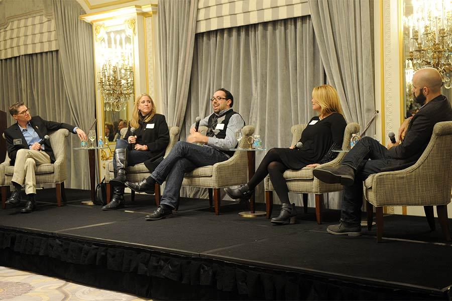 The panel at The Business of Voiceover in New York City.