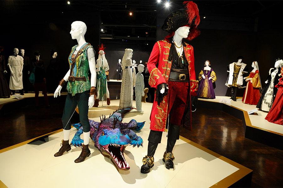 Costumes from Peter Pan Live! on display at The 9th Annual Outstanding Art of Television Costume Design Exhibition at the FIDM Museum & Galleries, Saturday, July 18, 2015, in Los Angeles.