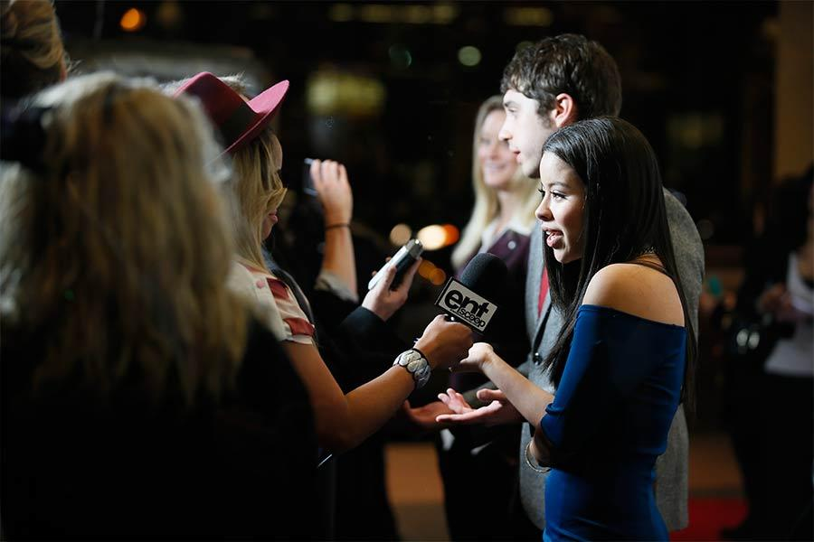 The cast speaks to the press on the red carpet at An Evening with The Fosters in Los Angeles, California.