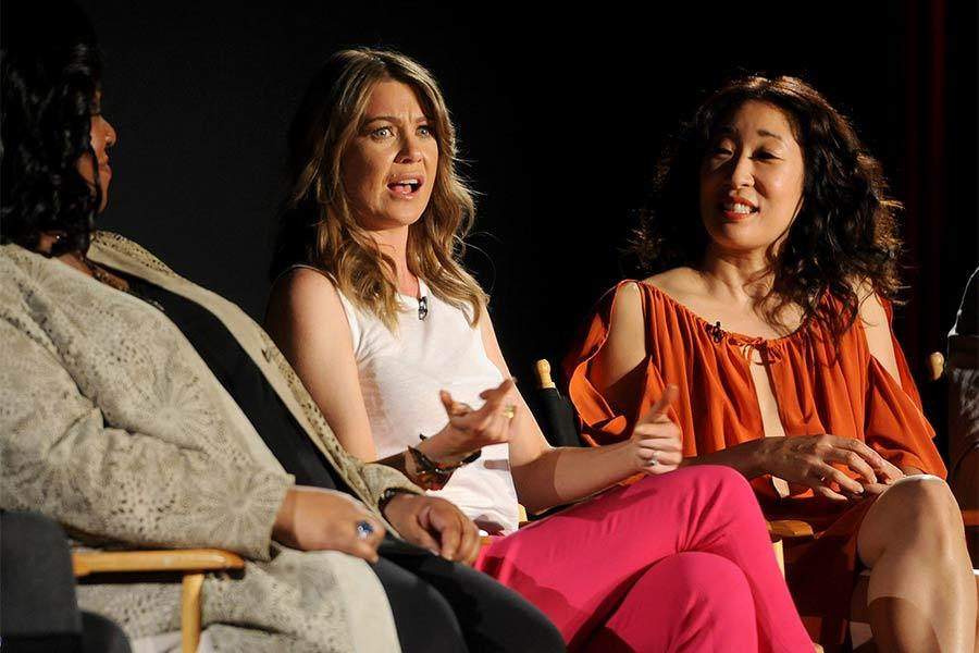 Shonda Rhimes, Ellen Pompeo and Sandra Oh at An Evening with Shonda Rhimes and Friends.