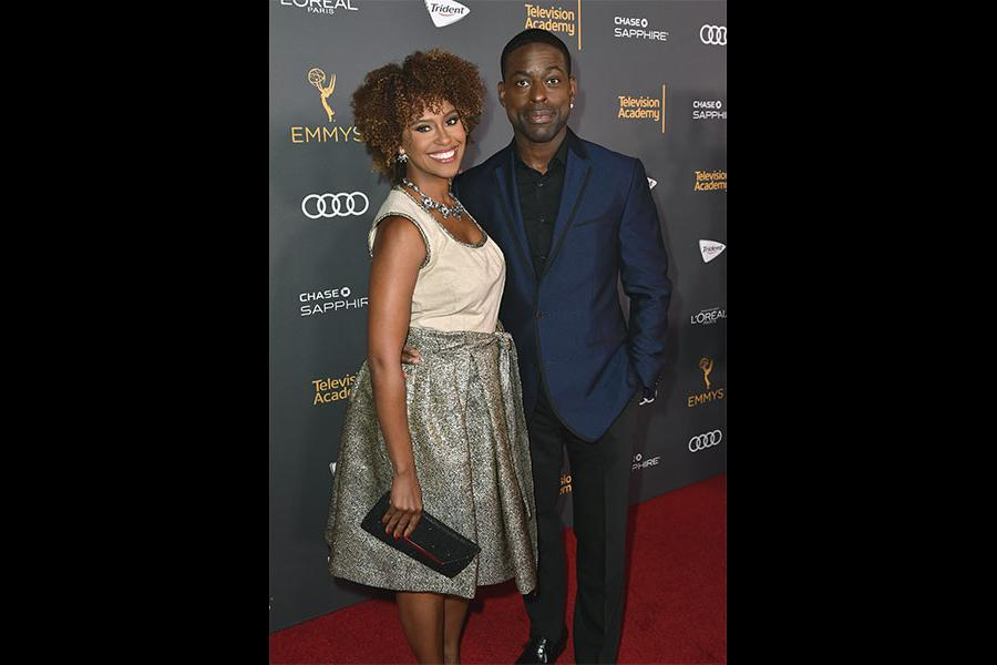 Ryan Michelle Bathe and Sterling K. Brown at the Performers Nominee Reception, September 16, 2016 at the Pacific Design Center, West Hollywood, California.