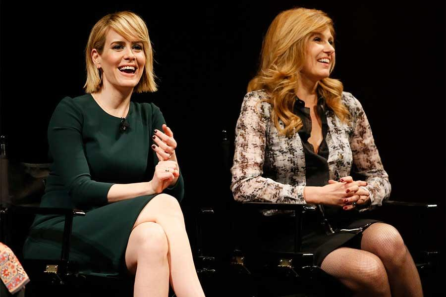 Sarah Paulson and Connie Britton onstage at An Evening with the Women of American Horror Story in Hollywood, California.