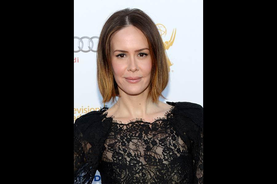 Sarah Paulson arrives at the Performers Peer Group nominee reception in West Hollywood.