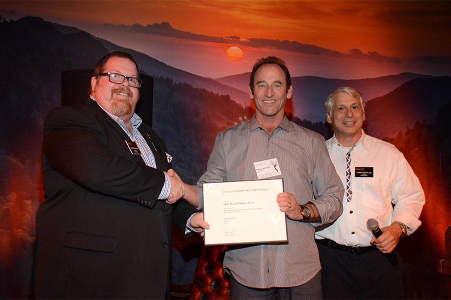 Scott Boyd, Skip McDonald, and Stuart Bass at the Picture Editors Nominee Reception in North Hollywood, California.