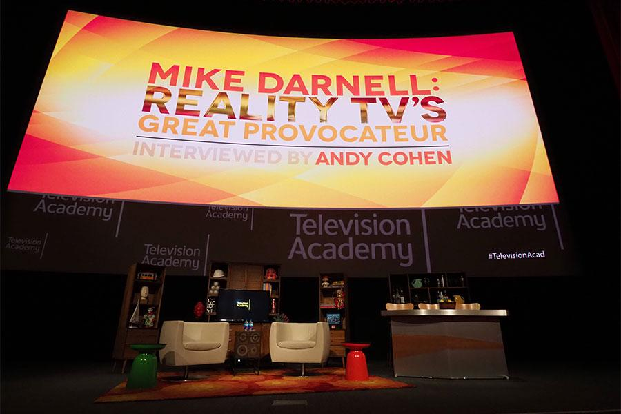 The set awaits at Mike Darnell: Reality TV's Great Provocateur at the Saban Media Center in North Hollywood, California, March 29, 2017.