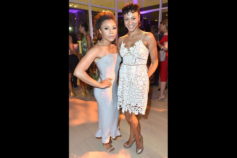 Shalita Grant and Carly Hughes at the Television Academy's Dynamic and Diverse event, August 25, 2016, at the Saban Media Center, North Hollywood, California.