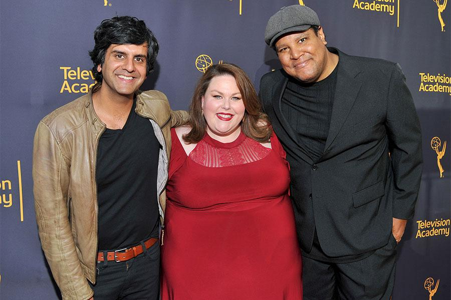 Siddhartha Khosla, Chrissy Metz, and Chris Pierce at WORDS + MUSIC, presented Thursday, June 29, 2017 at the Television Academy's Wolf Theatre at the Saban Media Center in North Hollywood, California.