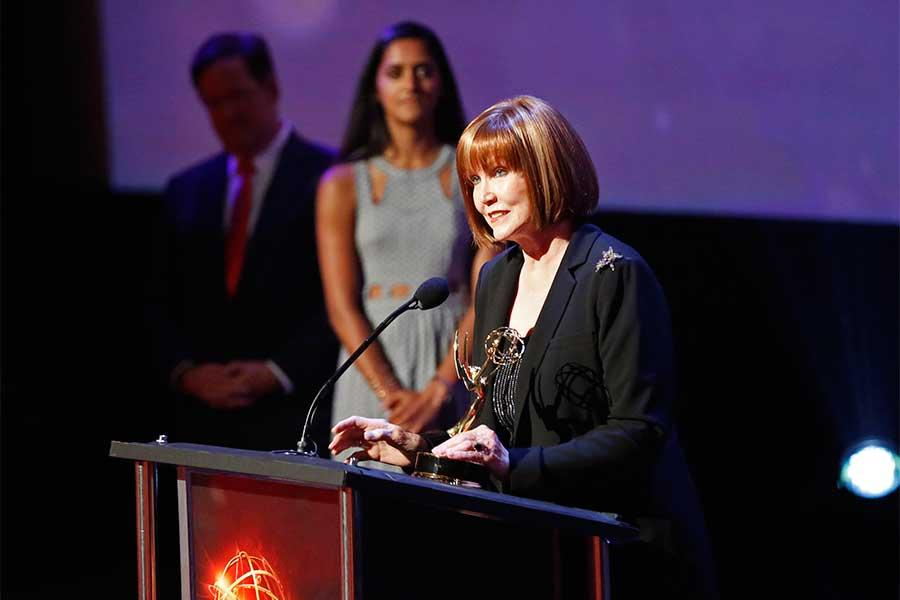 Stephanie Edwards accepts the Governor's Award at the 68th Los Angeles Area Emmys, July 23, 2016, at the Saban Media Center, North Hollywood, California.