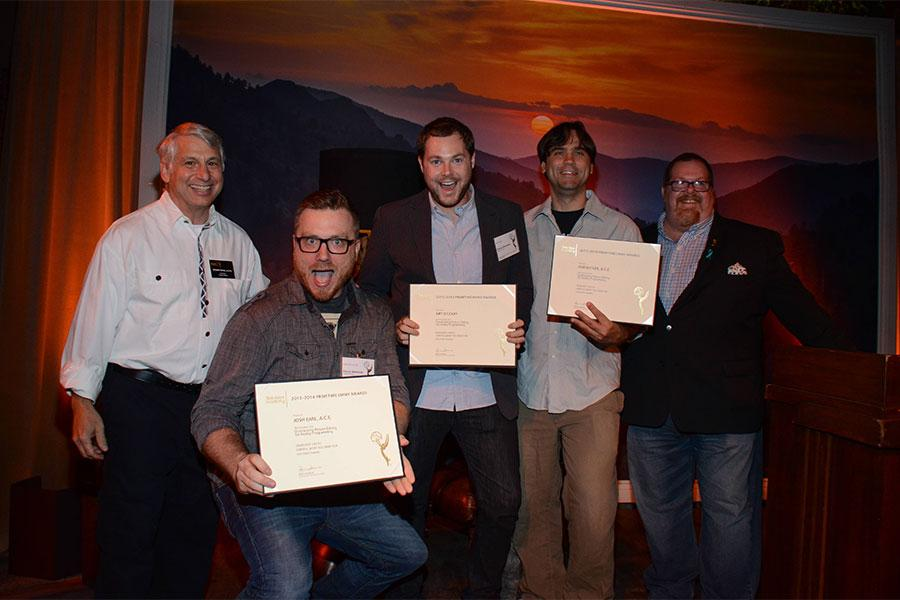 Stuart Bass, Josh Earl, Art O'Leary, Rob Butler and Scott Boyd at the Picture Editors Nominee Reception in North Hollywood, California.