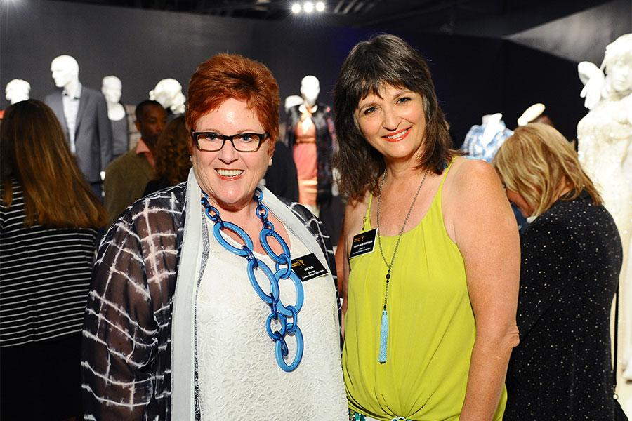 Television Academy governors Sue Bub and Terry Ann Gordon at The 9th Annual Outstanding Art of Television Costume Design Exhibition at the FIDM Museum & Galleries, Saturday, July 18, 2015, in Los Angeles.