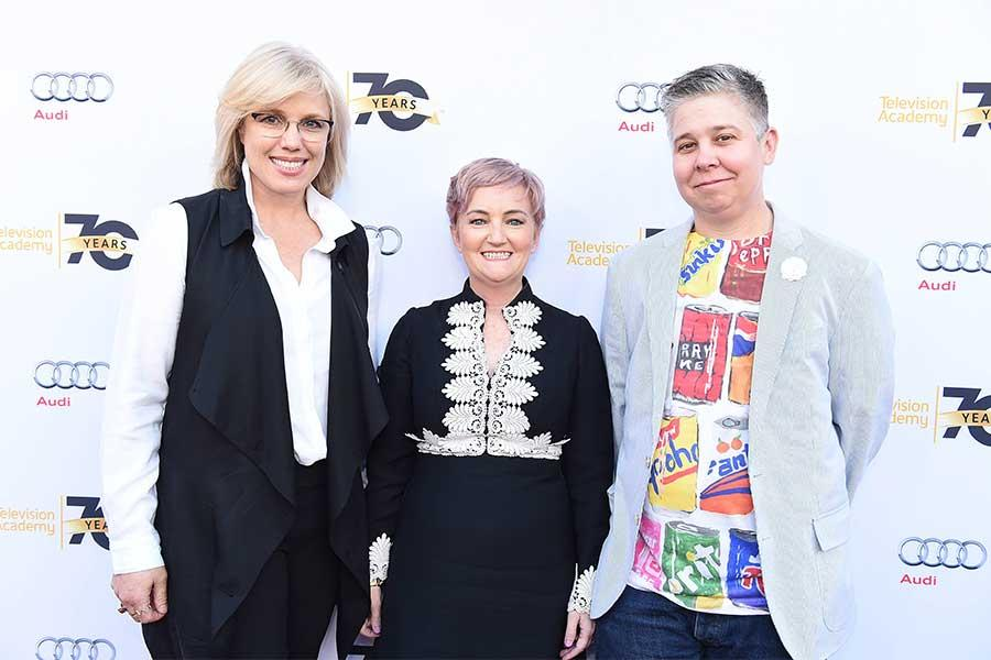Editor Sunny Hodge, production designer Cat Smith, and writer Ali Liebegott at Transparent: Anatomy of an Episode, March 17, 2016 in Los Angeles.