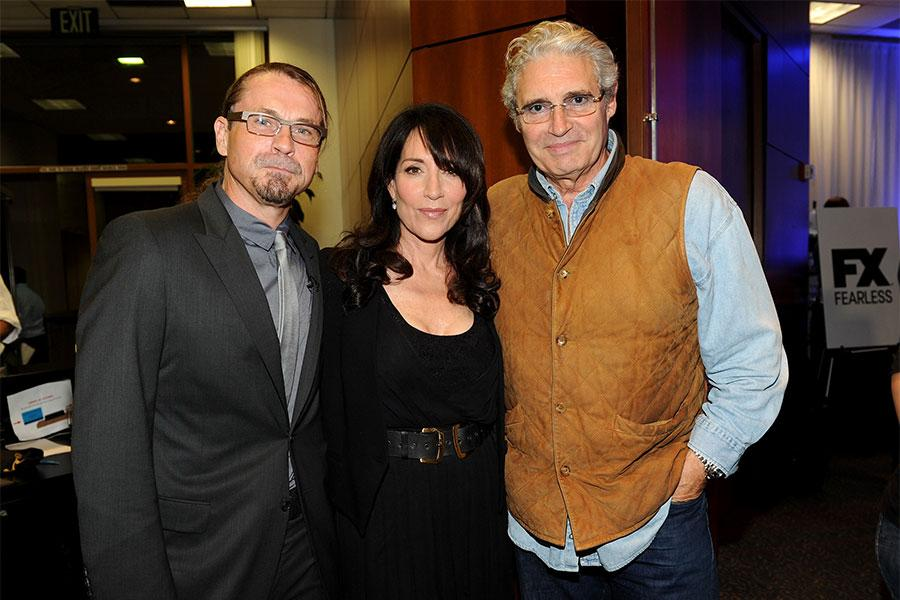 Kurt Sutter, Katey Sagal and Michael Nouri at An Evening with Sons of Anarchy.