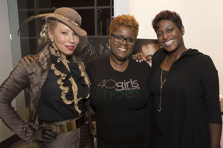 "The Lady, Sylvia Webb, and Rhonda Morgan at the Television Academy's first member event in Atlanta, ""A Conversation with Tyler Perry,"" at the Woodruff Arts Center on Thursday, May 4, 2017."