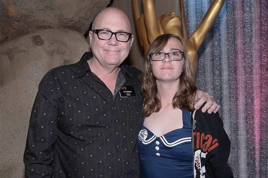 Tim Gibbons and Lily Gibbons at the Stunts Nominee Reception in North Hollywood, California.