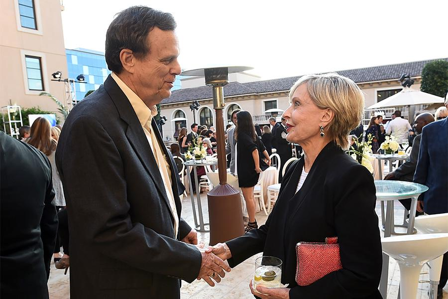 Former Honors committee member Tom Fick with Florence Henderson at the reception at the Eighth Annual Television Academy Honors, May 27 at the Montage Beverly Hills.