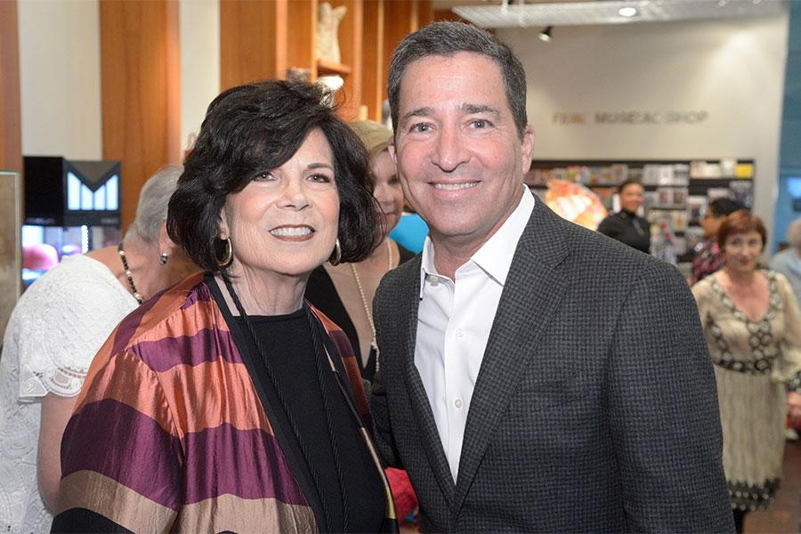 Tonian Hohberg, president and CEO, FIDM, left, and Bruce Rosenblum, chairman and CEO of the Television Academy at The 9th Annual Outstanding Art of Television Costume Design Exhibition at the FIDM Museum & Galleries, Saturday, July 18, 2015, in Los Angele