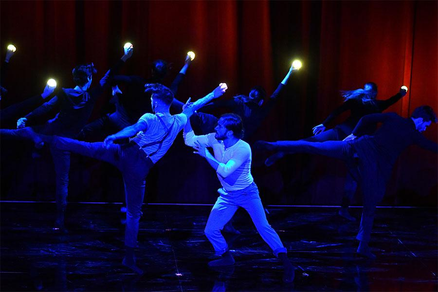 """Travis Wall choreography at """"Whose Dance Is It Anyway?"""" February 16, 2017, at the Saban Media Center in North Nollywood, California."""