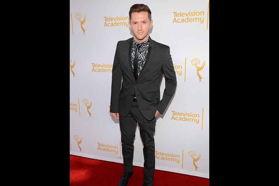 Travis Wall arrives at the Choreographers Nominee Reception in North Hollywood, California.