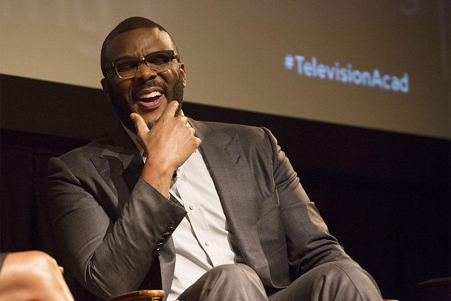 """Tyler Perry onstage at the Television Academy's first member event in Atlanta, """"A Conversation with Tyler Perry,"""" at the Woodruff Arts Center on Thursday, May 4, 2017."""