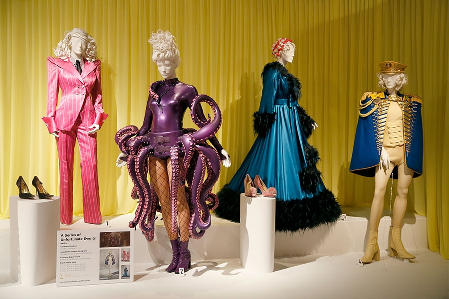Costumes From Good Omens Appear On Display At The Costume Design Supervision Nominee Reception Held At The Fashion Institute Of Design And Merchandising In Los Angeles California Saturday August 17 2019