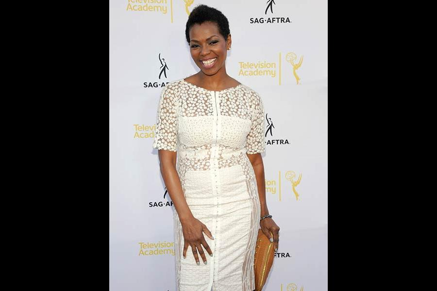 Vanessa Williams arrives at Dynamic and Diverse: A 66th Emmy Awards Celebration of Diversity at the Television Academy in North Hollywood, California.