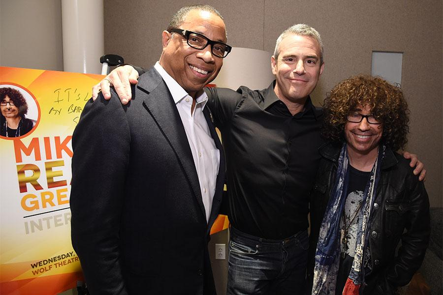 Television Academy Chairman and CEO Hayma Washington with Andy Cohen and Mike Darnell at Mike Darnell: Reality TV's Great Provocateur at the Saban Media Center in North Hollywood, California, March 29, 2017.