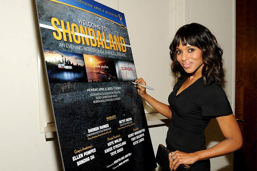 Kerry Washington of Scandal at An Evening with Shonda Rhimes and Friends.