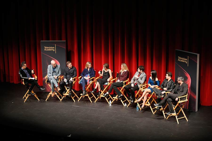 The panel at An Evening with The Fosters in Los Angeles, California.