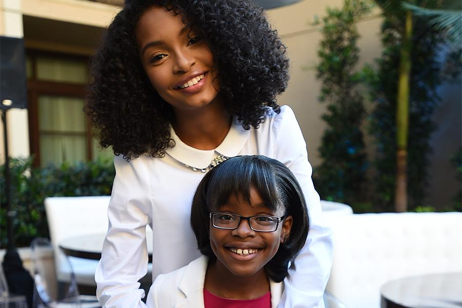 Yara Sahidi and Marsai Martin of black-ish enjoy the reception at the Eighth Annual Television Academy Honors, May 27 at the Montage Beverly Hills.