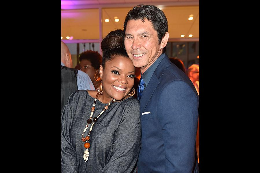 Lou Diamond Phillips and Yvette Nicole Brown at the Television Academy's Dynamic and Diverse event, August 25, 2016, at the Saban Media Center, North Hollywood, California.