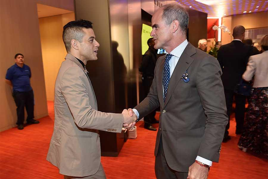 Rami Malek and Michael Kelly at the Television Academy's 70th Anniversary Gala and Opening Celebration for its new Saban Media Center on June 2, 2016