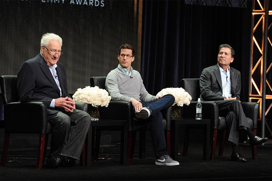 Don Mischer, Andy Samberg, and Bruce Rosenblum