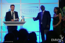 Ryan Seacrest, Randy Jackson & Dominique Dawes at the Fourth Annual Television Academy Honors