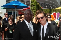 Andre Braugher and Kevin Bacon at the 62nd Primetime Emmy Awards