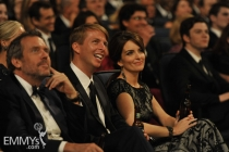 Hugh Laurie, Jack McBrayer & Tina Fey at the 62nd Primetime Emmy Awards