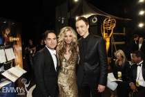 Johnny Galecki, Kaley Cuoco & Jim Parsons at the 61st Primetime Emmy Awards