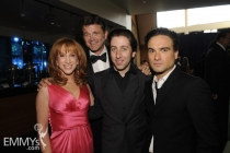 Johnny Galecki, Kathy Griffin, John Michael Higgins & Simon Helberg at the 61st Primetime Creative Arts Emmy Awards