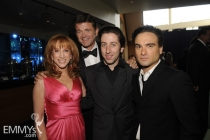 Kathy Griffin, John Michael Higgins, Simon Helberg & Johnny Galecki at the 61st Primetime Creative Arts Emmy Awards