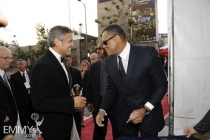 George Clooney & Laurence Fishburne at the 62nd Primetime Emmy Awards