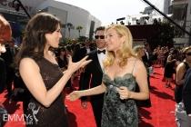 Michelle Forbes & Jennifer Westfeldt at the 62nd Primetime Emmy Awards