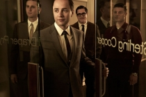 Still of Vincent Kartheiser, Rich Sommer and Aaron Staton in Mad Men